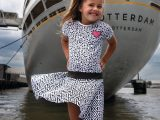 Dress Geraldine Grey White
