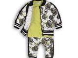 31C-34550 3 pce babysuit Light army green + a