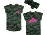 Dress Ciara 0 Camo Green/Neon Pink