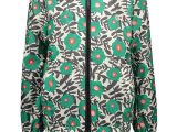 MT jacket AOP flower Green