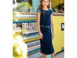 Y102-5830_146 Dresses space blue