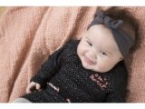 D36410-31 2 pce Babysuit dress  Black + grey melee