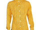 KS6514 blouse dot yellow