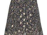 KS6688 skirt gold-black flower