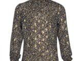 KS6683 top gold-black flower