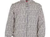 KM6661 blouse zig zag navy