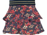 KM6662 skirt flower dark blue