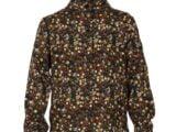 KM7060 blouse flower brown