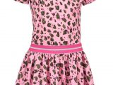 Girls dress with leo ao and ruffle at armhole Mili army