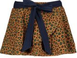 Girls fake suede skirt with leo aop and jersey belt Soft leo