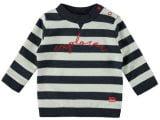 Baby Boys melange block stripe sweater with embroidery EXPLORER stripe navy